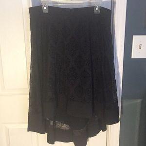 Lovely hi-lo a-line skirt